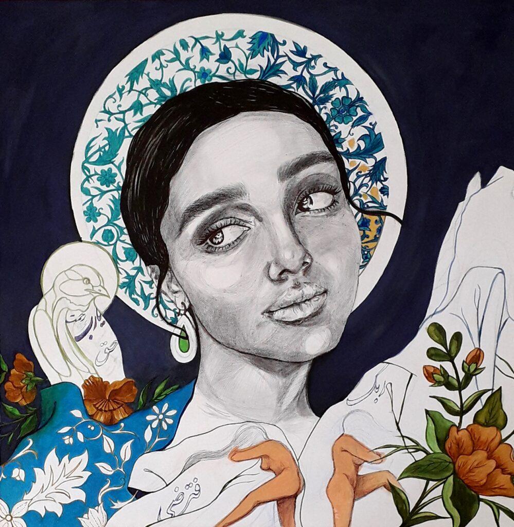 Artwork by Zahra Jafarzadeh | Portrait2020 | MenhaArt