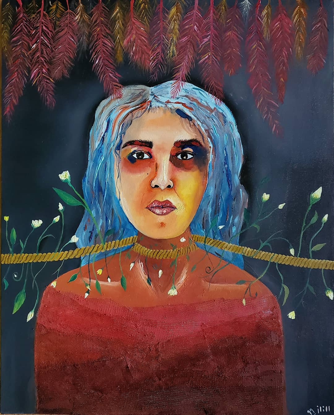 Artwork by Elnaz Kamali | Portrait2020 | MenhaArt